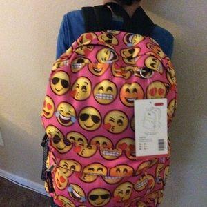 Handbags - New EMOJI STYLISH White Backpack 🎒